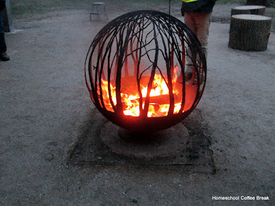 fire pit - Christmas Lights  - A Longwood Gardens PhotoJournal - Part Two on Homeschool Coffee Break @ kympossibleblog.blogspot.com