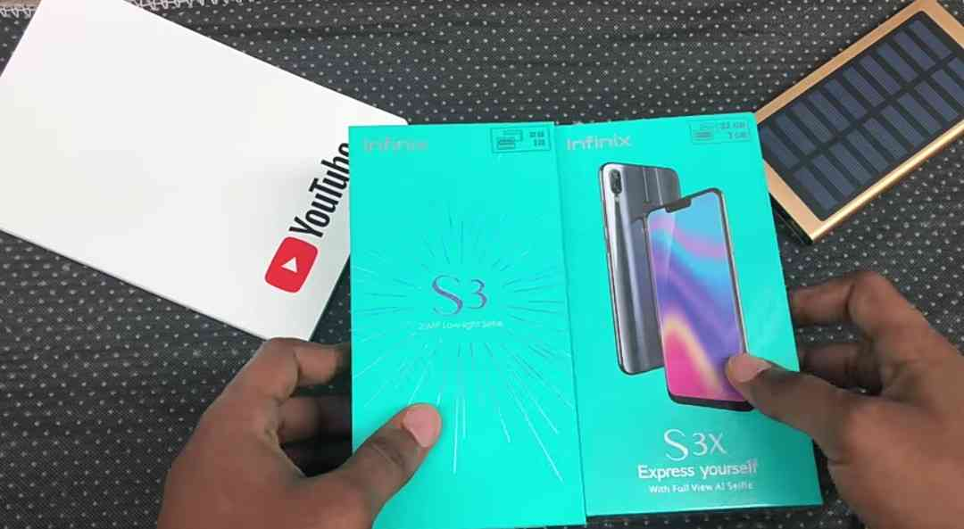 The Infinix Hot S3X Box - Front View