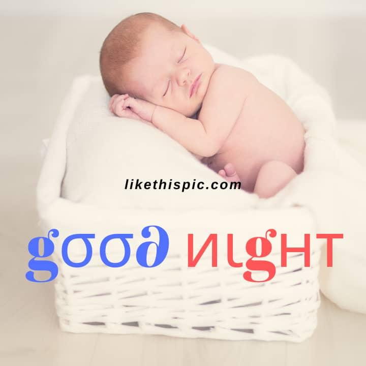 Good Night Image of Baby Hd