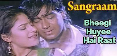 Bheegi Hui Hai Raat Magar lyrics Kumar Sanu