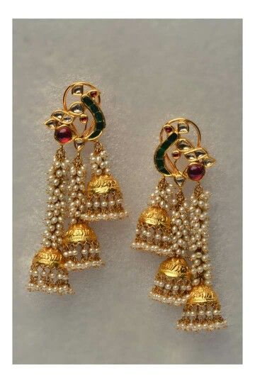 earrings, long earrings, anushka earrings, bahubali earrings, danglers, ear chains, kanauti, jhumke, jhumki designs