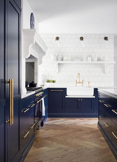 Blue and White Kitchens- Decor Inspiration