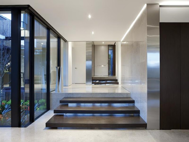 Photo of three steps at entrance into amazing dream home in Australia
