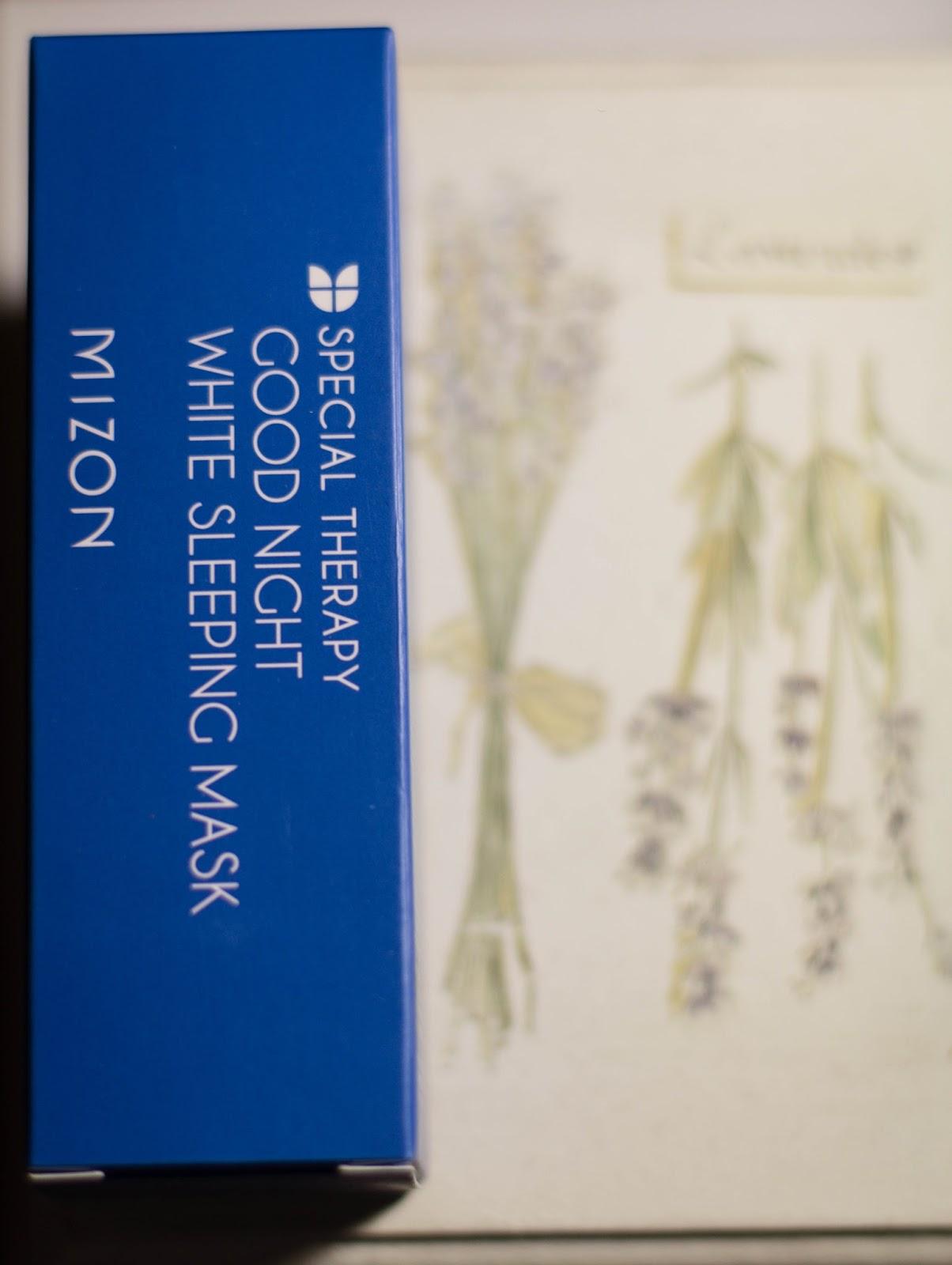 Mizon Special therapy Good night white sleeping mask отзыв