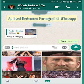 Aplikasi Berkonten Pornografi di Whatsapp