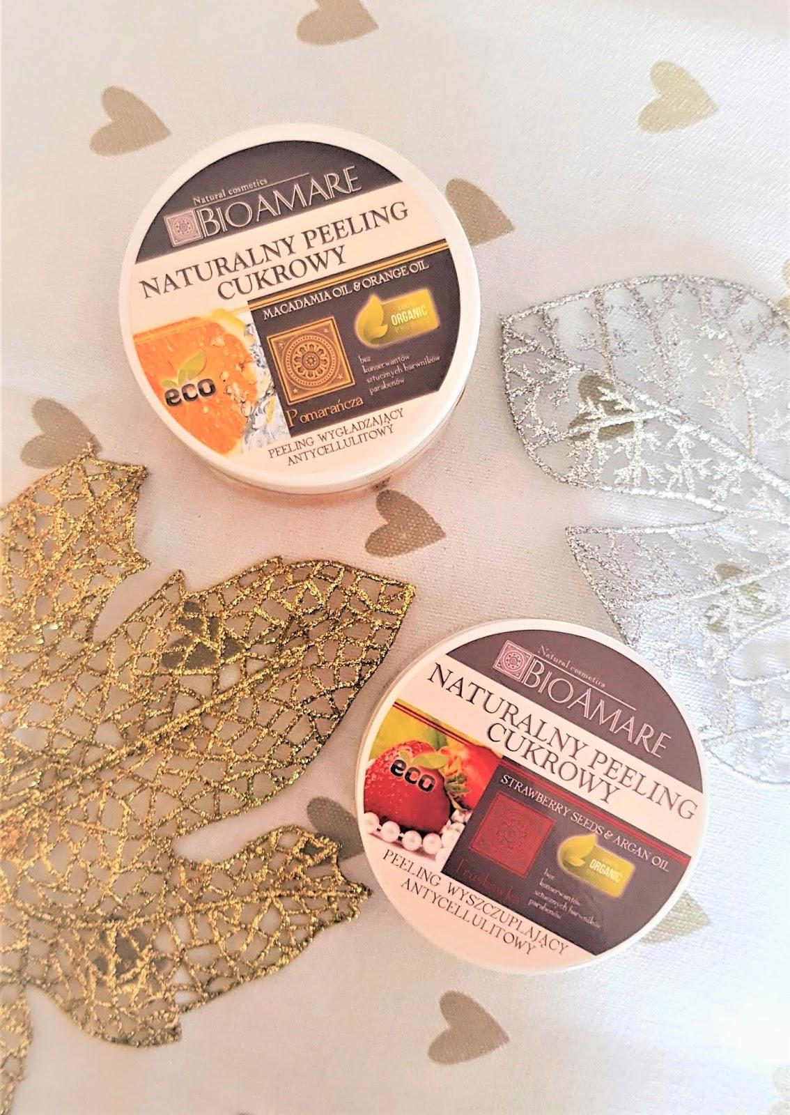 Bioamare naturalny peeling cukrowy olej z nasion truskawki i olej arganowy