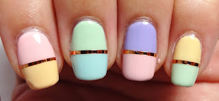 Rose Gold Tape Nails
