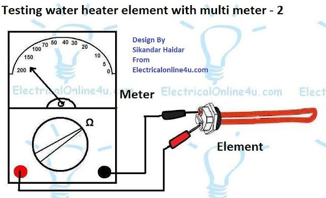 test water heater element
