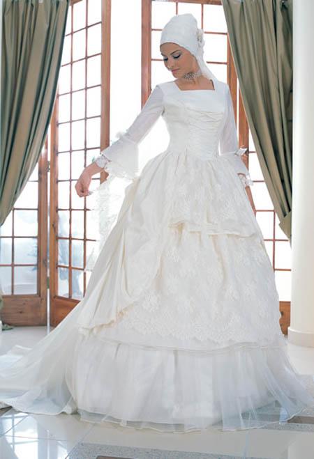 hijab mariage style robe mari e avec hijab voile 2013 hijab et voile mode style mariage et. Black Bedroom Furniture Sets. Home Design Ideas