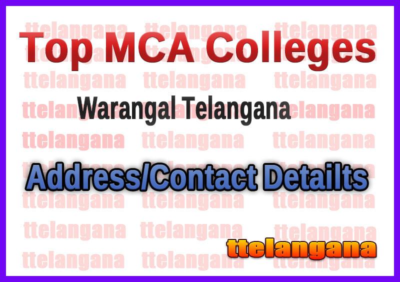 Top MCA Colleges in Warangal Telangana