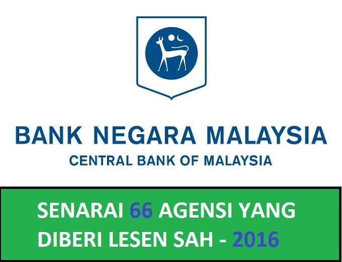 Senarai 66 Agensi Pengumpulan Deposit Awam Yang Berlesen Oleh Bank Negara Malaysia