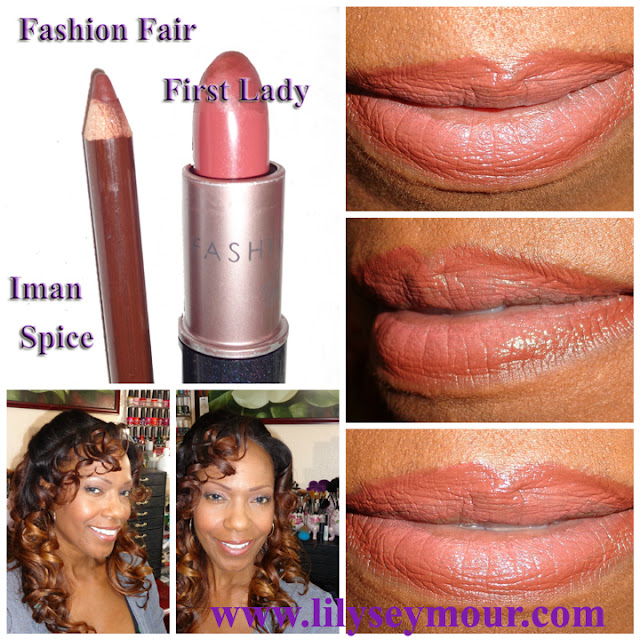 Fashion Fair First Lady Lipstick / Iman Spice Lip Liner