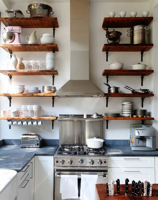open shelving in the kitchen the great debate