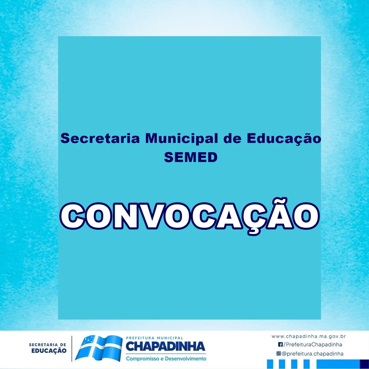 CHAPADINHA | SEMED Convoca Professores para Participarem de Curso Online (CCAA/UFMA)