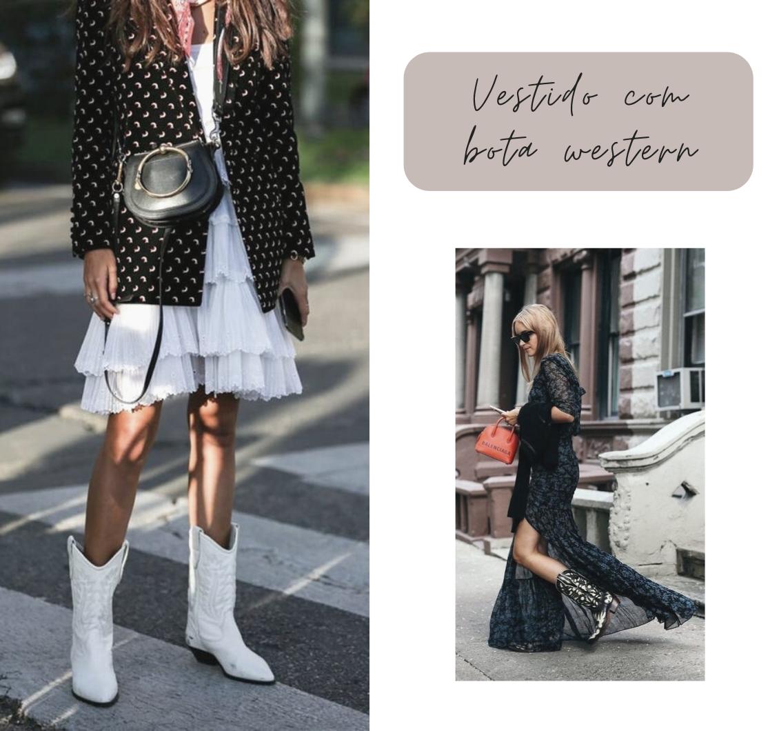 Vestido com bota: ousadia que dá certo