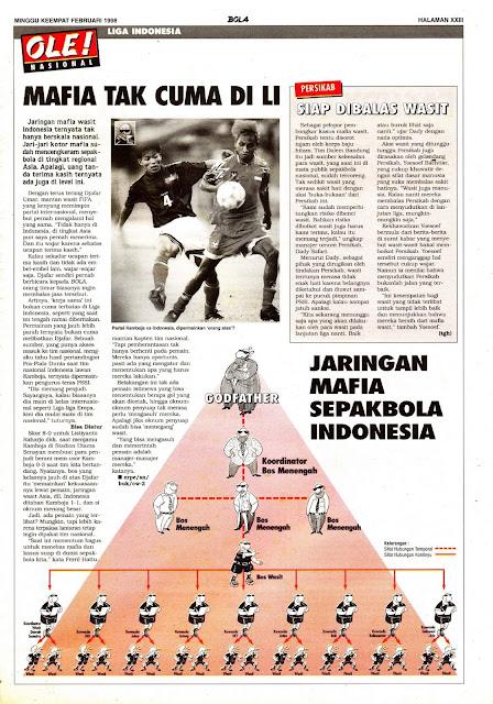 MAFIA SEPAKBOLA DI LIGA INDONESIA 1998