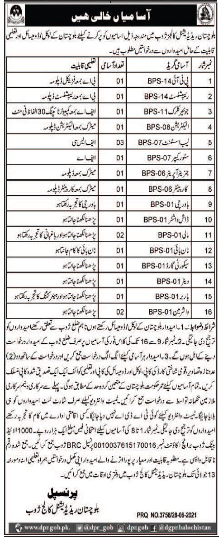 Balochistan Residential Colleges Zhob