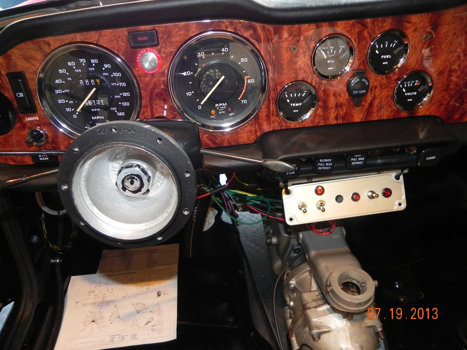 Triumph Tr6 Dash Wiring Diagram 220 Volt Tripp 39s July 2013 And The Is Finally Done