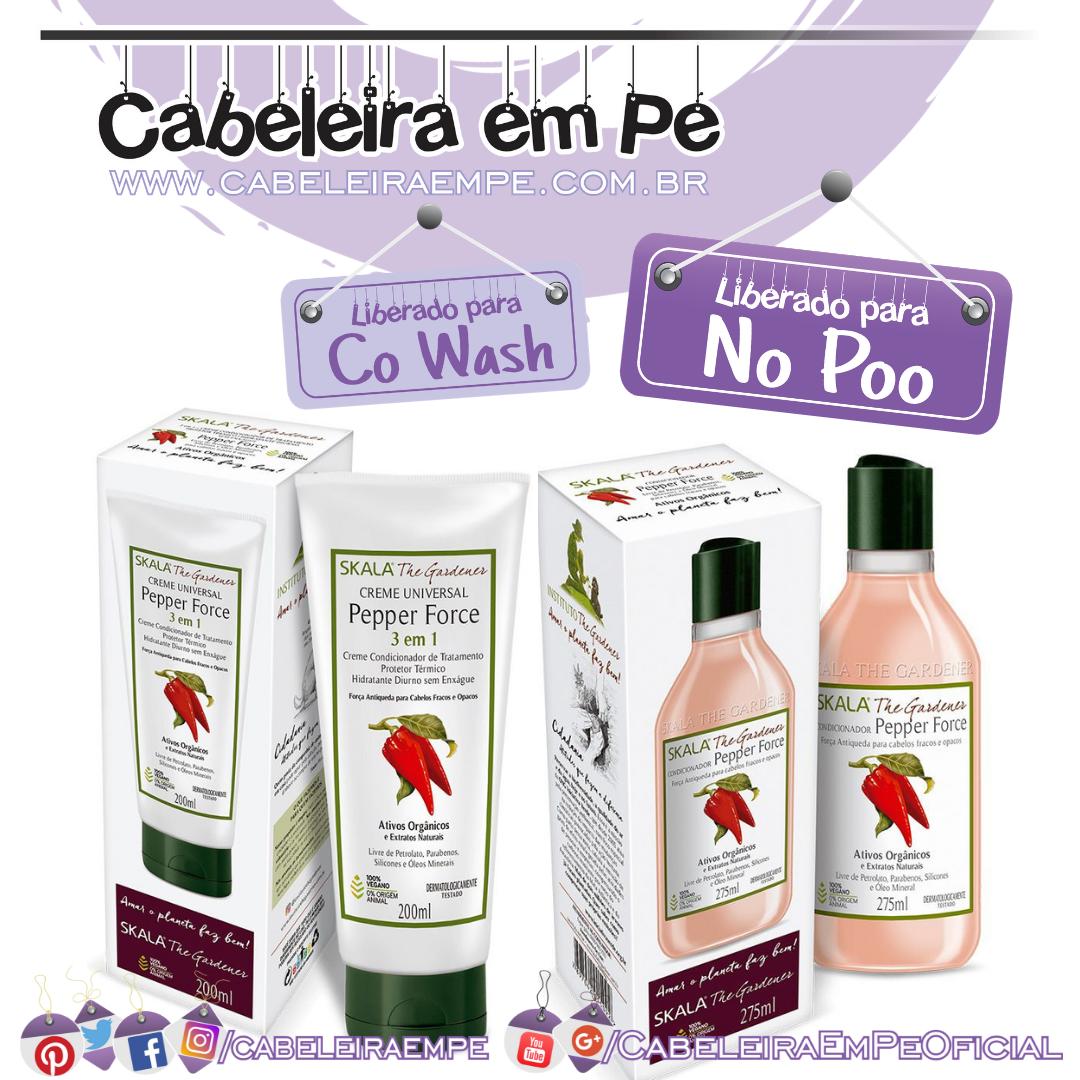 Condicionador Creme de tratamento Pepper Force - Skala The Gardener (No Poo e Co Wash)
