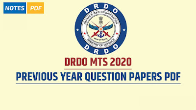 DRDO MTS Previous Year Question Papers PDF