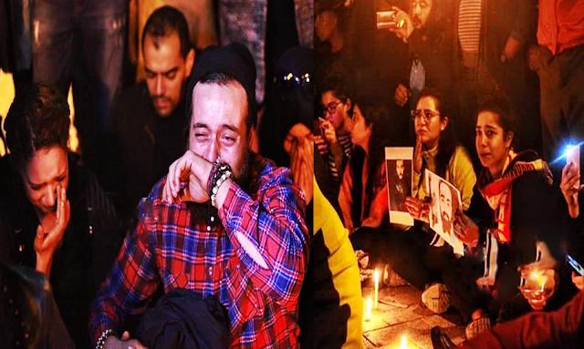 وقفة تضامنية مع ضحايا الحافلة المنكوبة من امام وزارة السياحة (فيديو)