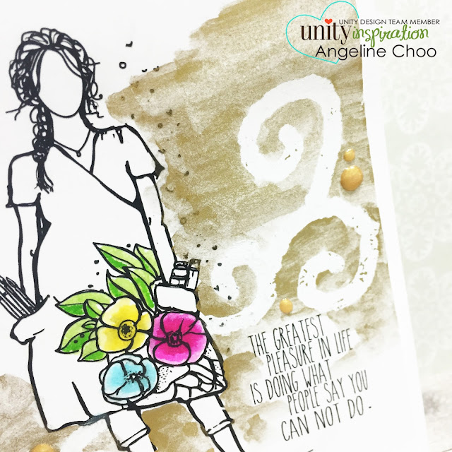 ScrappyScrappy: Big Blog Hop + [NEW VIDEOS] with Unity Stamp - Molotow Masking Watercolor #scrappyscrappy #unitystampco #card #cardmaking #maskingfluid #molotow #papercraft #vivadecor #gansaitambi #flowers #watercolor #stamp #stamping