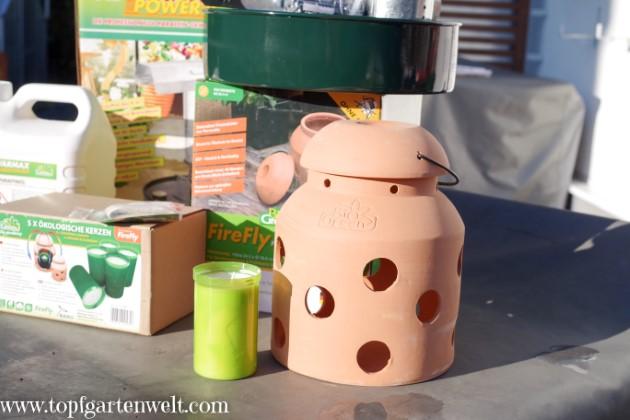 Kerzenheizung Firefly von BioGreen - Gartenblog Topfgartenwelt