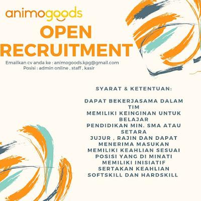 Loker Kupang di Animogoods Sebagai Admin Online, Staff, Kasir