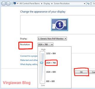 Cara meningkatkan resolusi netbook 1024x600 menjadi 1024x768