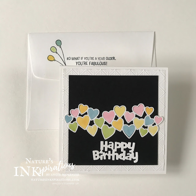 By Angie McKenzie for the Third Thursdays Blog Hop; Click READ or VISIT to go to my blog for details! Featuring the Birthday Chick Dies, Be Mine Stitched Dies and the Sale-a-Bration Approaching Perfection Stamp Set which can be earned as a Level 1 reward through the end of February 2021; these items from Stampin' Up! are great for creating fun, handmade birthday cards; #candles #balloons #hearts #naturesinkspirations #birthdaycards #birthdaychickdies #beminestitcheddies  #approachingperfectionstampset #janfeb2021sab #usingscraps #coloringwithblends  #stampinup #basicwhitecardstock #makingotherssmileonecreationatatime