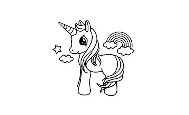como dibujar unicornios kawaii faciles paso paso