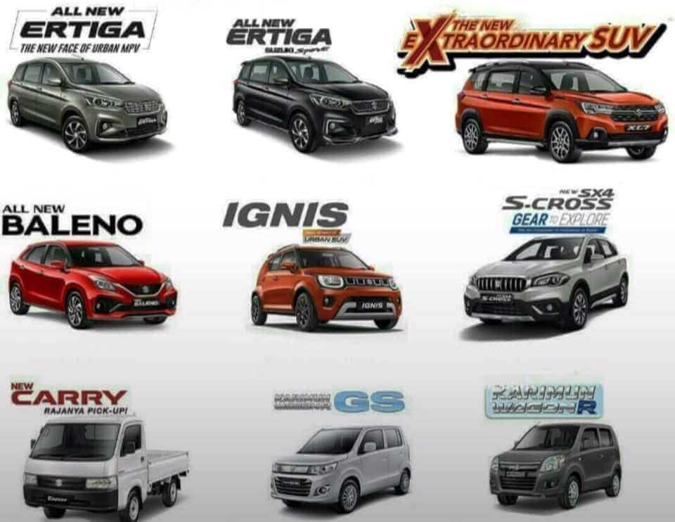 Pilihan Mobil Suzuki yang beragam