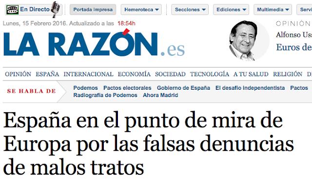 Denuncias falsas en España