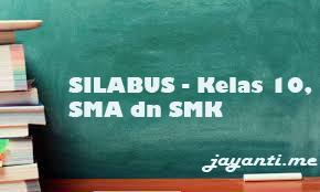 Silabus Bahasa Indonesia Kelas 10 SMA dan SMK K13 (7 Kolom)