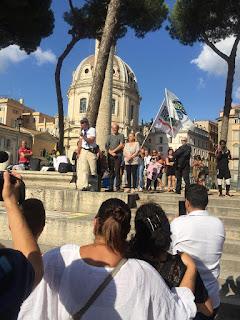 manifestazione bambini di Bibbiano Roma