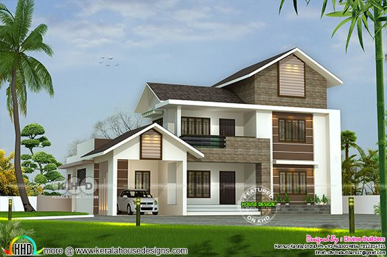 $79,000 (₹54 lakhs) cost estimated double storied house plan