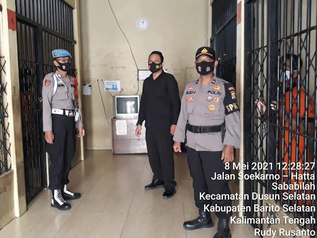 Rutin, Pawas Bersama Piket Jaga Mako Polres Barsel Cek Kondisi dan Ruang Tahanan