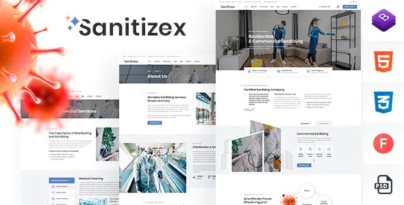 Best Sanitizing Services HTML Template