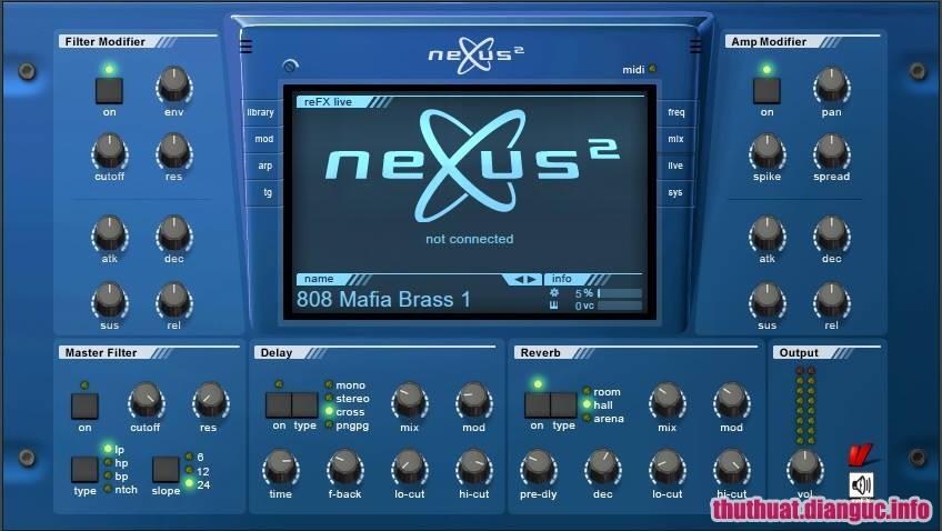 Download ReFX Nexus 2.2.0 VST Plugin + Content Full Crack, plugin tổng hợp ROM có thể cung cấp chất lượng âm thanh hơn, ReFX Nexus, ReFX Nexus free download, ReFX Nexus full key