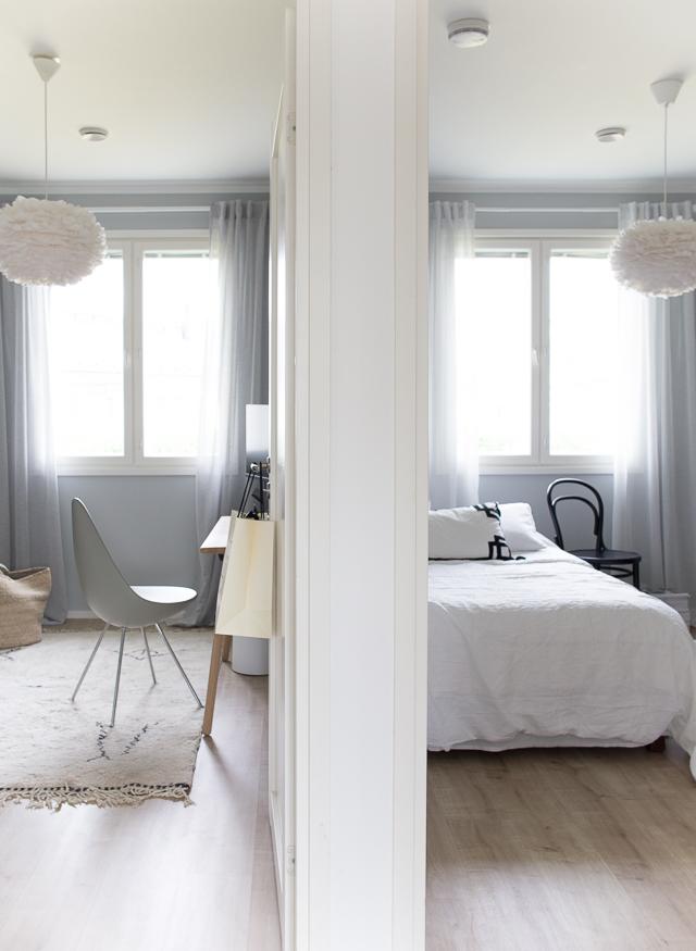 Vierashuone, Villa H, työhuone, drop-tuoli