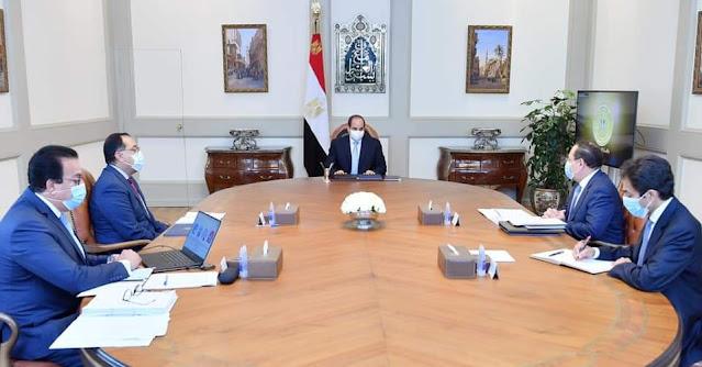 الرئيس السيسي يتابع دور مؤسسات البحث العلمي في استخدام تطبيقات التكنولوجيا الحديثة لصالح مشروعات الدولة التنموية
