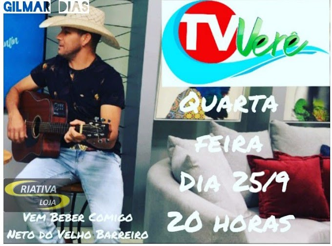 Gilmar Dias estará hoje na TV Verê no programa Estação Musical