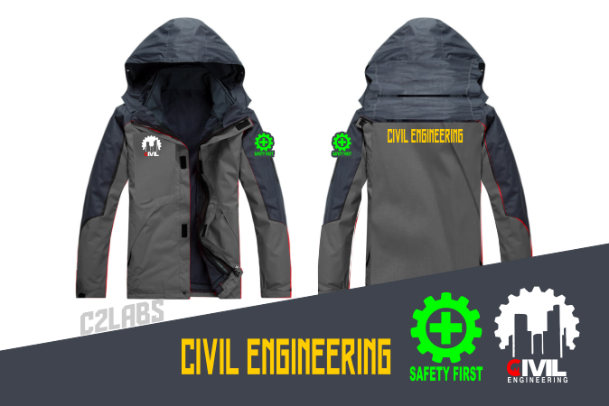 Bikin Jacket Satuan Bordir Komputer Civil Engineering