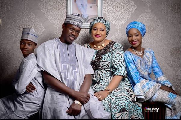 Family Photo Of Actor Ali Nuhu, His Beautiful Wife and Kids