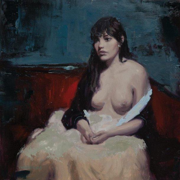 Nadezda twistedmatter pinturas a óleo renascentista sensual realista sombria mulheres nuas