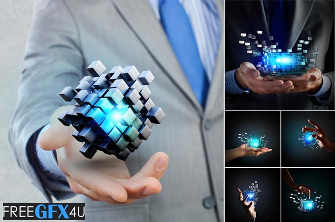 Cube In Male Hand