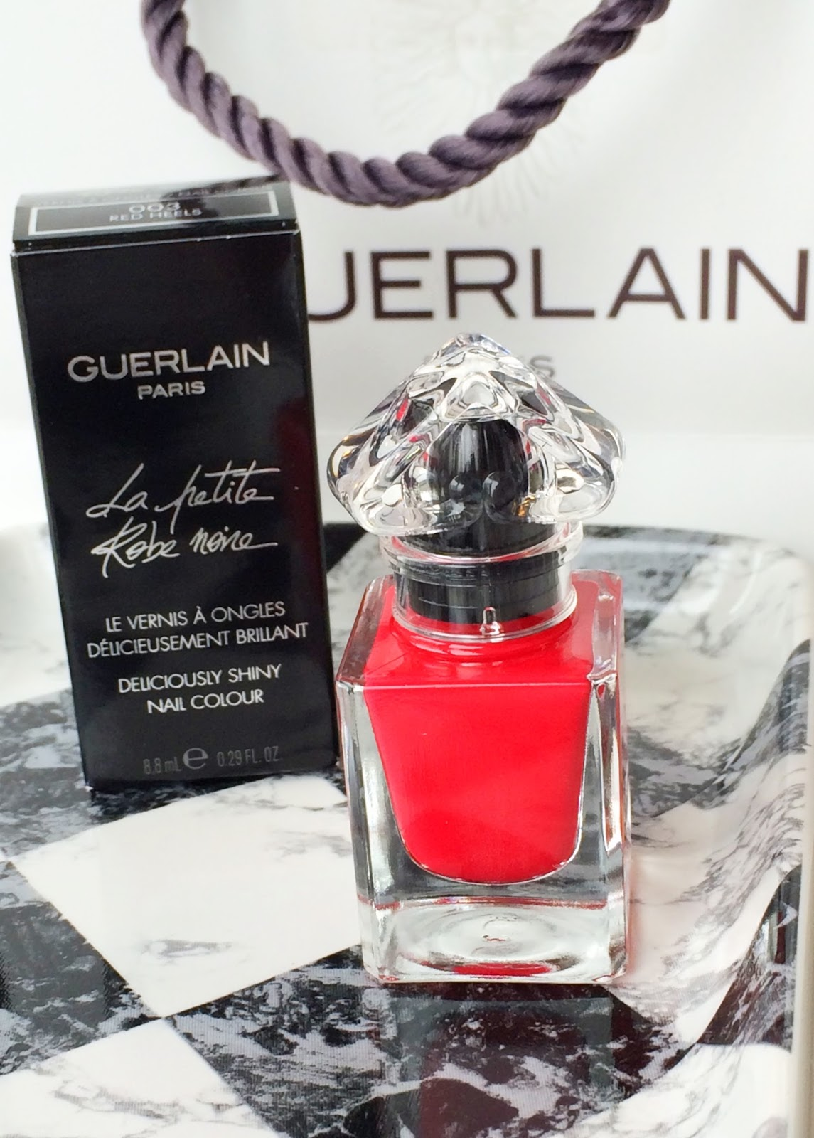 Guerlain La Petite Robe Noire Nail Polish In Red Heels Beautylymin Is A High End Brand That I Always Associate With Luxury Sophistication Have Only Tried Small Number Of Products From Them So When Debenhams