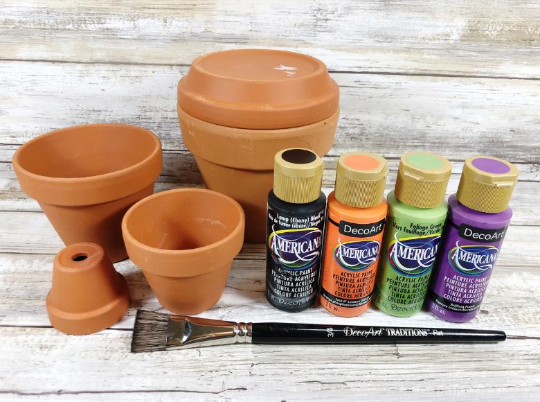 clay pot crafts suplies