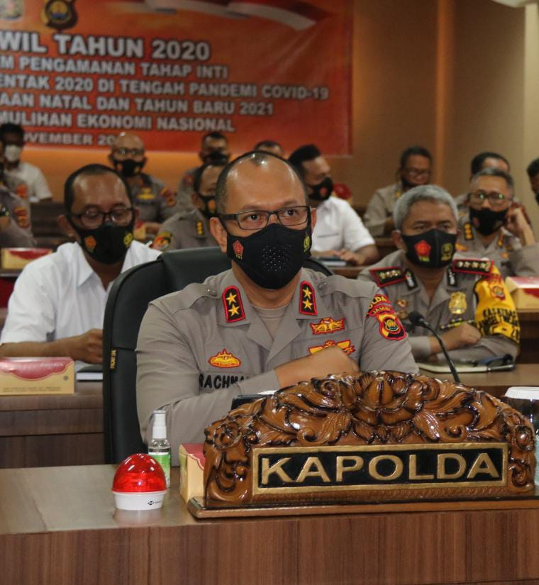 Kapolda Jambi Irjen Pol A. Racmad Wibowo Hadiri Apel Kasatwil Tahun 2020 di Jakarta