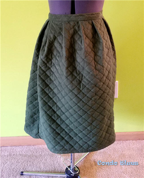 how to make a quilted petticoat skirt